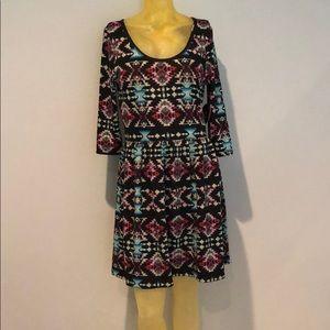 NWT BeBop Aztec / Tribal Print Dress L